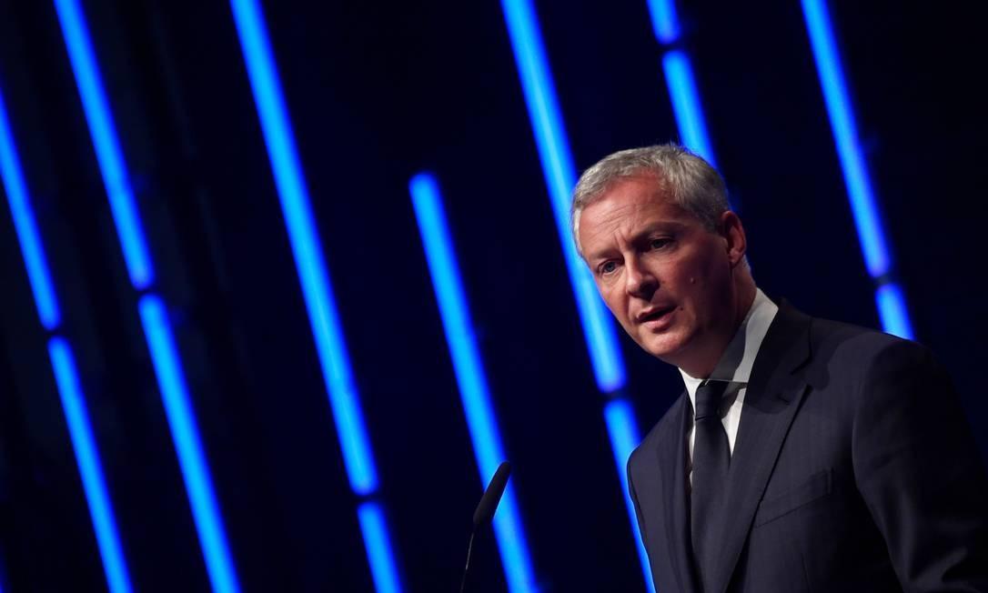 Bruno Le Maire, ministro das Finanças da França: pivô do rompimento Foto: JOHN MACDOUGALL / AFP
