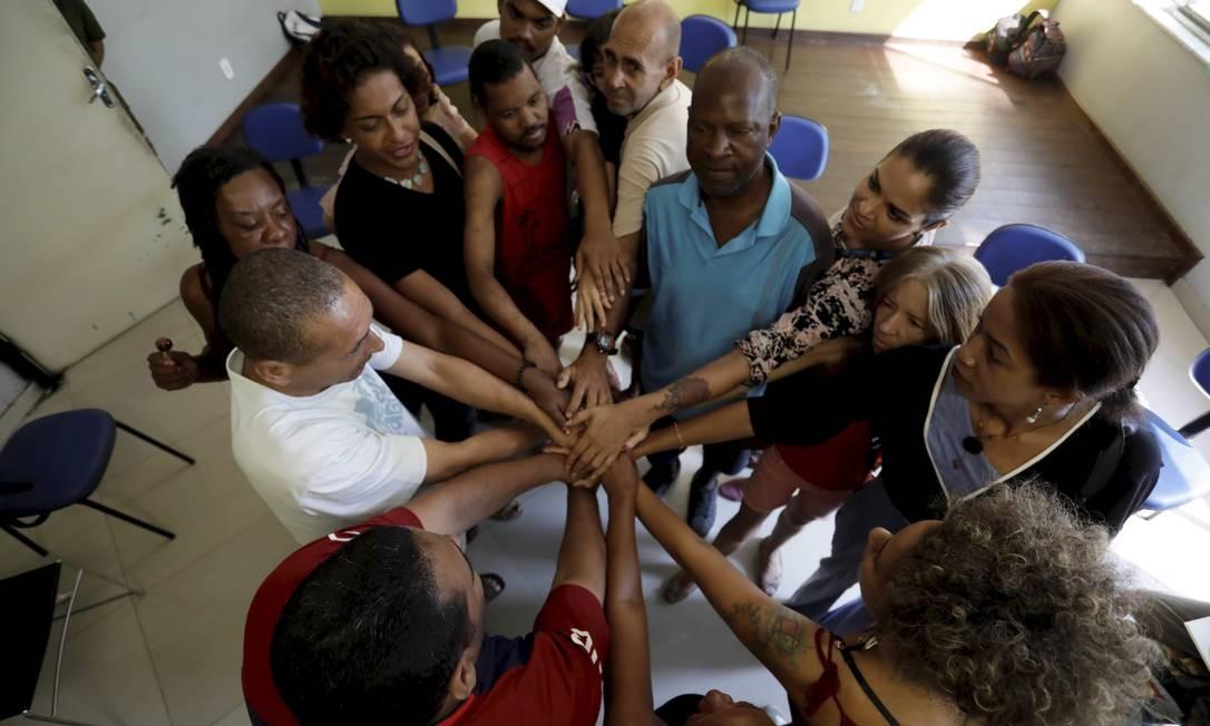Assistidos do Centro de Atenção Psicossocial Miriam Makeba, no Rio Foto: Custódio Coimbra / Agência O Globo