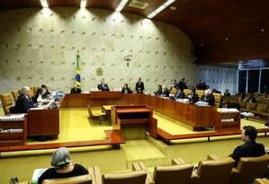 Plenário do Supremo Tribunal Federal (STF) Foto: Jorge William / Agência O Globo