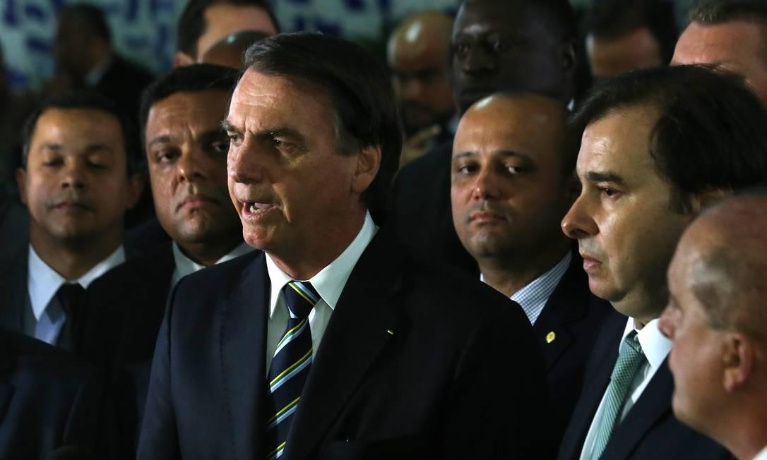 Presidente Jair Bolsonaro vai à Câmara dos Deputados entregar projeto de lei da Carteira Nacional de Habilitação (CNH) Foto: Jorge William 04-06-2019 / Agência O Globo