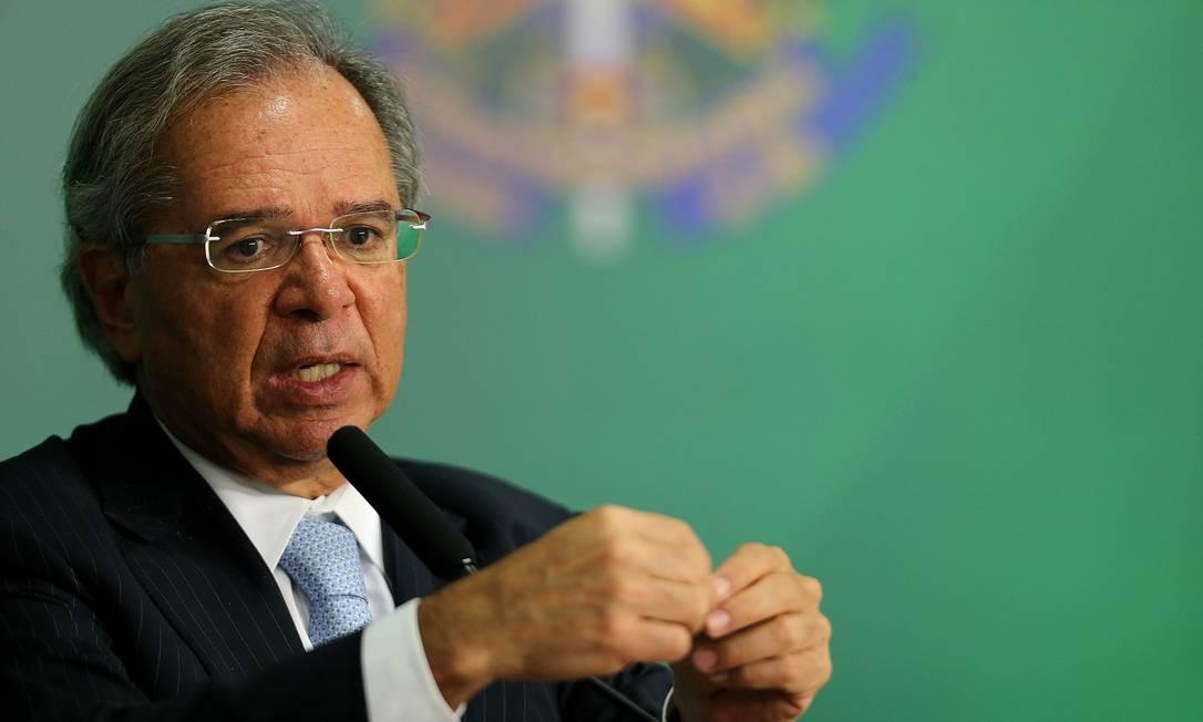 O ministro da Economia Paulo Guedes Foto: Jorge William / Agência O Globo/16-4-2019