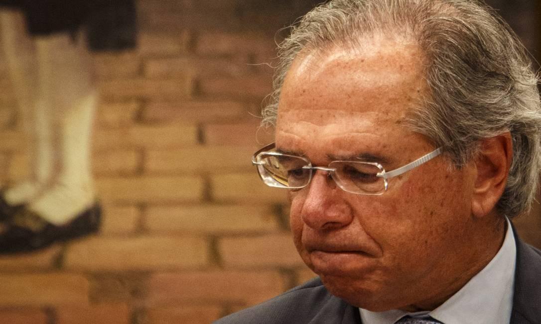 O ministro da Economia, Paulo Guedes, em Brasília Foto: Daniel Marenco / Agência O Globo