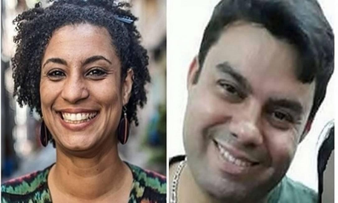 Marielle Franco e Anderson Gomes, mortos em março de 2018 Foto: Reprodução