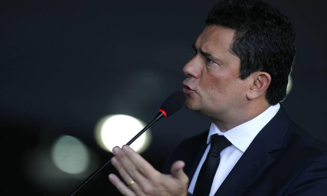 """No último domingo 9, o ministro da Justiça Sergio Moro foi uma das pessoas que teve conversas vazadas em reportagem publicada pelo """"The Intercept Brasil"""" Foto: Jorge William 20-05-2019 / Agência O Globo"""