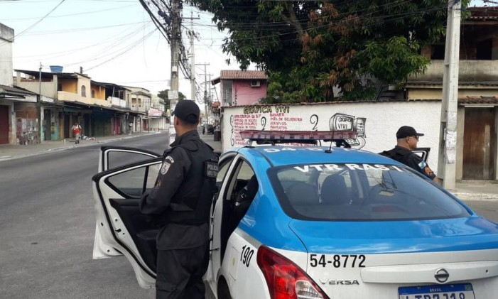 Polícia Militar no Jardim Catarina, em São Gonçalo Foto: Infoglobo