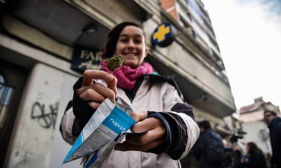 No Uruguai, a maconha pode ser comprada em farmácias. Foto: Pablo Abarenga / Getty Images