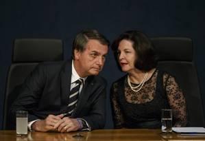 O presidente Jair Bolsonaro participa da cerimonia de posse dos novos procuradores Foto: Daniel Marenco / Agência O Globo