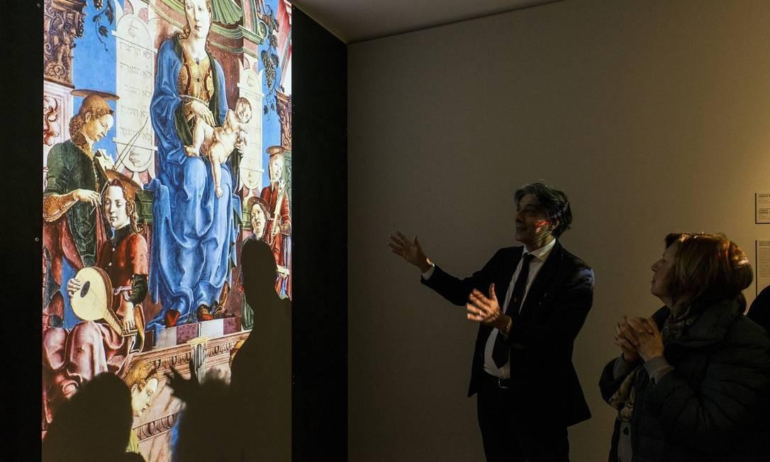 O Museu Nacional do Judaísmo Italiano e da Shoah em Ferrara usa técnicas de multimídia para explorar a longa relação entre italianos e judeus Foto: Susan Wright / The New York Times