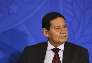O vice-presidente, Hamilton Mourão Foto: Reprodução / Rádio Globo