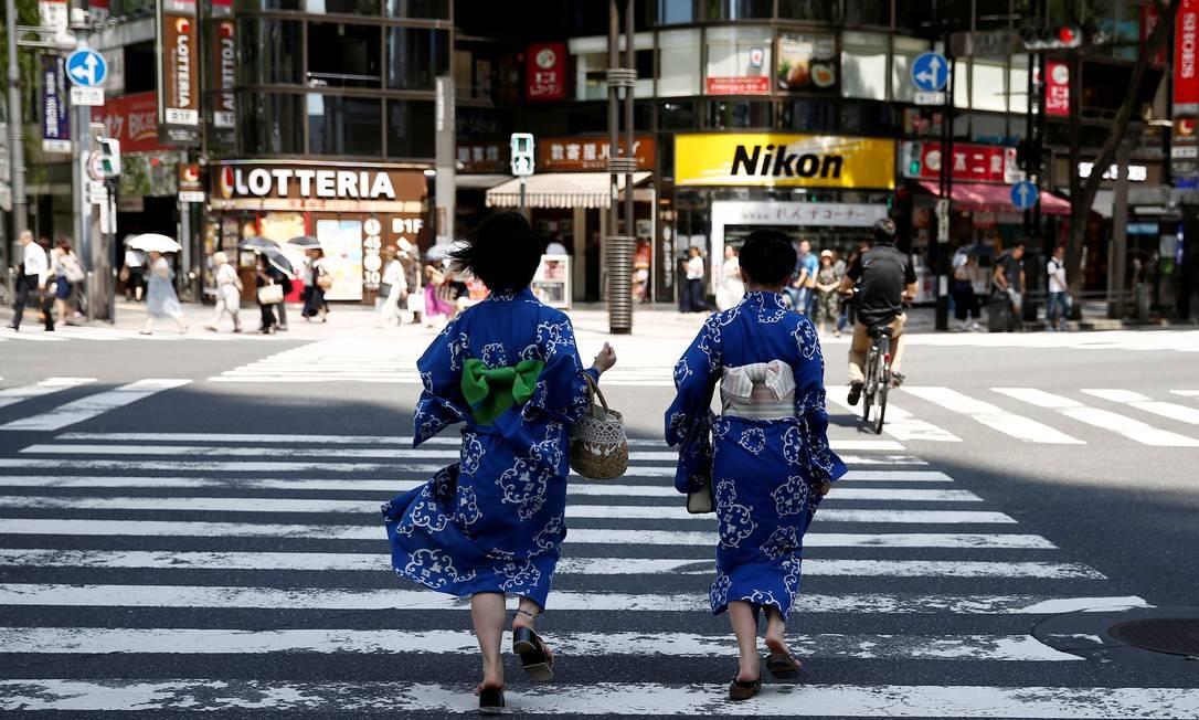 A carência de mão de obra no Japão vem do rápido envelhecimento populacional. A previsão é que a população atual de 127 milhões se reduza para 86,7 milhões em 2060 Foto: Kim Kyung Hoon/Reuters/20-7-2018 / REUTERS