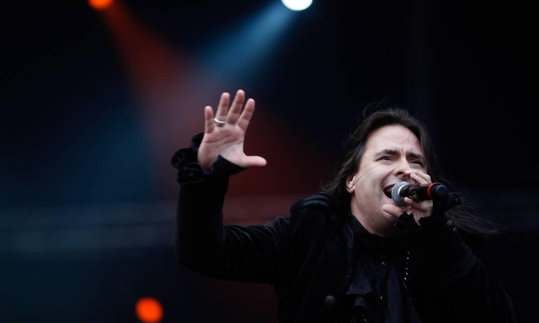Andre Matos canta no Palco Sunset do Rock in Rio, em 2013 Foto: Pedro Kirilos / Agência O GLobo