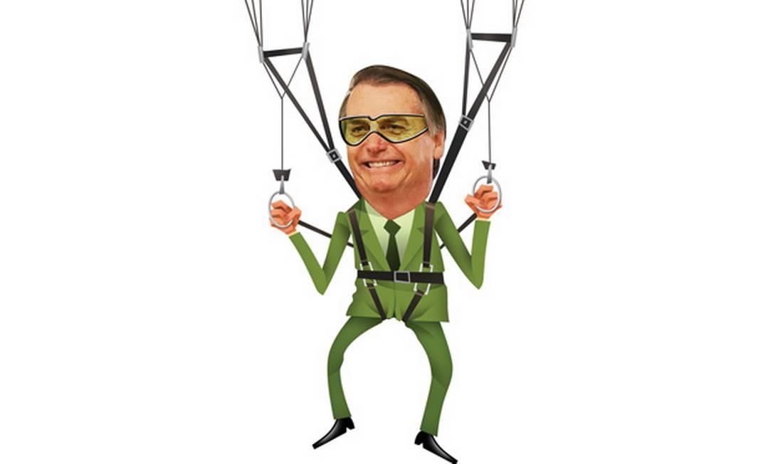 Bolsonaro já foi da Brigada Paraquedista do Exército Foto: Editoria de Arte