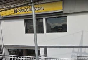 Uma agência do Banco do Brasil foi alvo de bandidos na madruga deste domingo Foto: Reprodução/ Google Street View