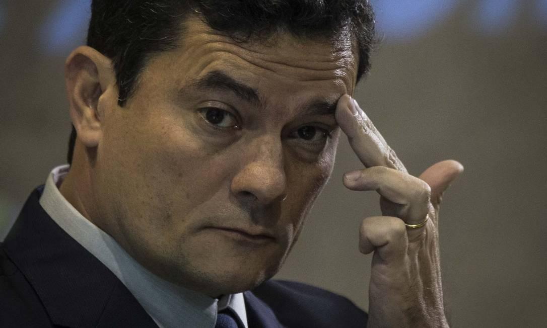 Ministro Sergio Moro teria tido o aplicativo Telegram hackeado Foto Guito Moreto / Agência O Globo Foto: Guito Moreto / Agência O Globo