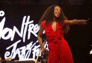 Corinne Bailey Rae em seu show no sábado Foto: Divulgação/Marcos Hermes