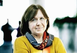 A escritora Svetlana Alexievich, em Gotemburgo, na Suécia, em 2016 Foto: ERIK REFNER / NYT