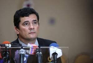 O ministro Sergio Moro Foto: Bruno Kelly / Reuters