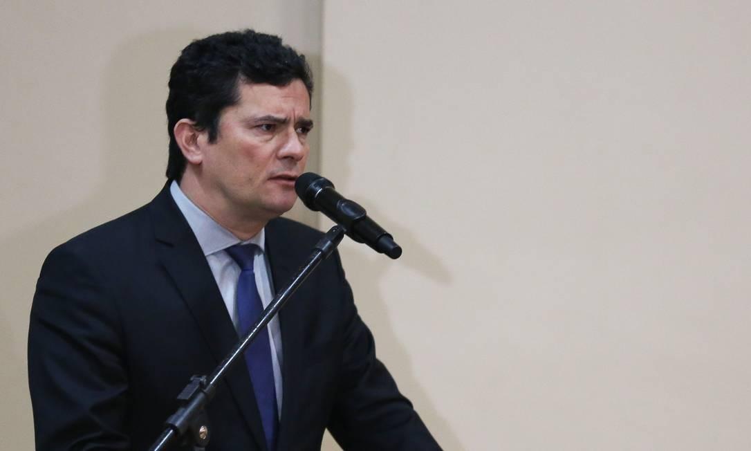 Ministro da Justiça, Sergio Moro Foto: CARL DE SOUZA / AFP