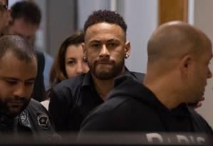 Neymar prestou depoimento na última semana Foto: MAURO PIMENTEL / AFP