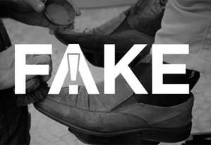 É #FAKE que Câmara dos Deputados abriu licitação de R$ 3,1 milhões para serviço de engraxate Foto: Reprodução