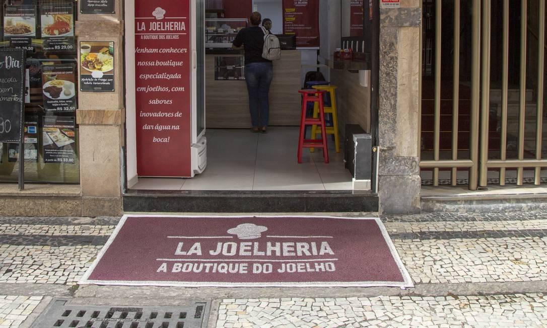 La Joelheria, primeira casa do Rio especializada em joelhos Foto: Bruno Kaiuca / Agência O Globo