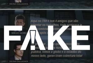 Print falso que tem circulado na internet Foto: Reprodução