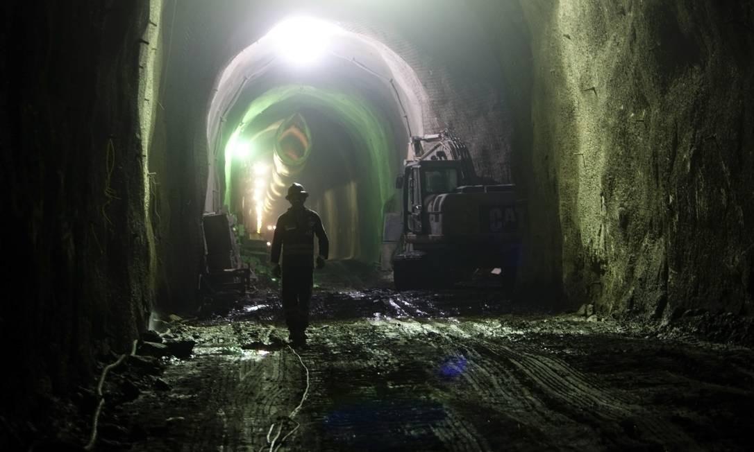 Canteiro de obras do metrô em 2012 Foto: Eduardo Naddar / Agência O Globo