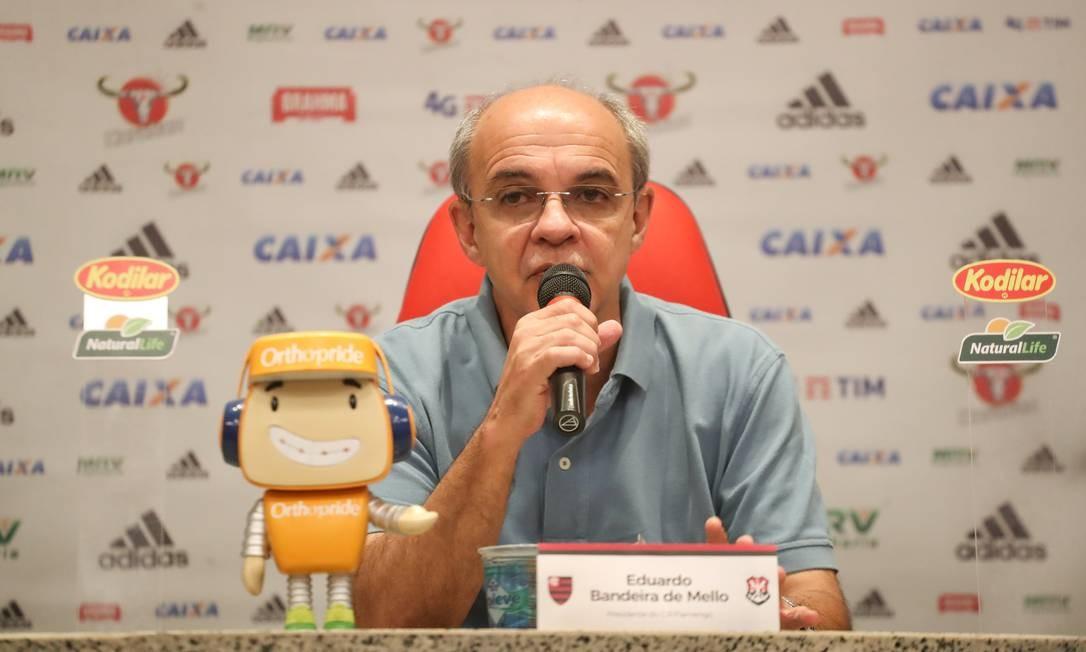 Eduardo Bandeira de Mello foi indiciado por homicídio doloso em mortes em incêncio no Ninho Foto: Gilvan de Souza / Flamengo - 17.10.2018