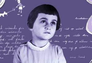 Anne Frank aos 4 anos, em 1933 Foto: Divulgação/Editora Record