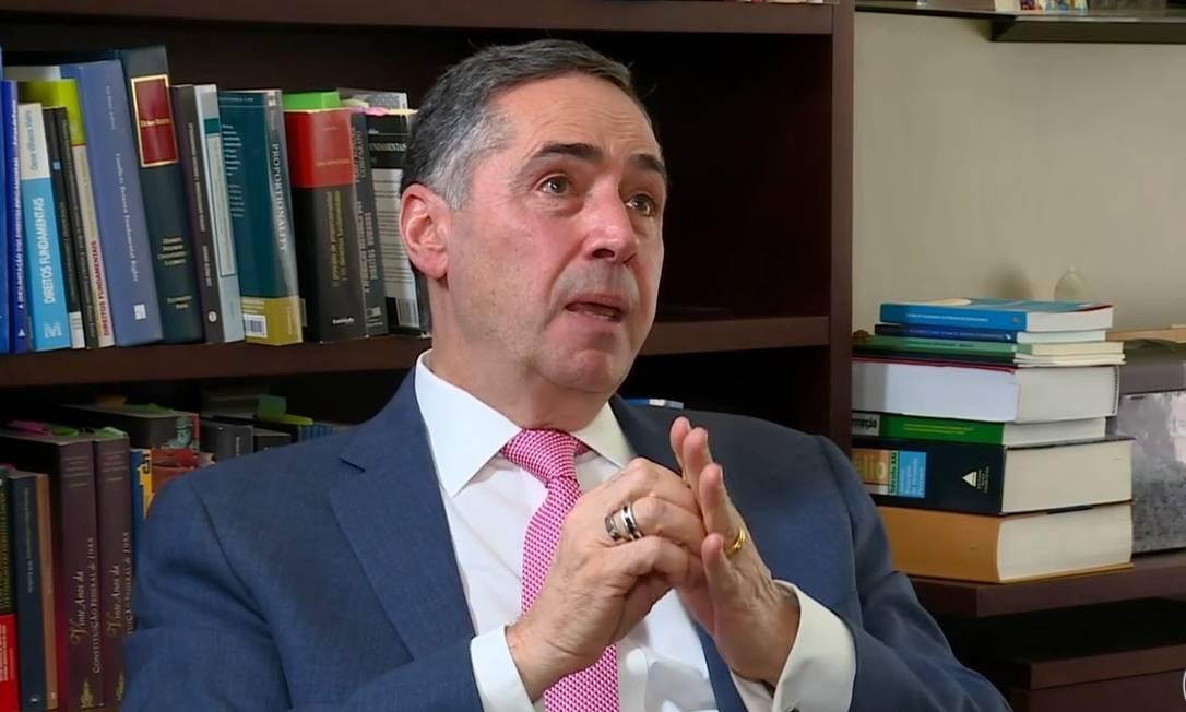 Ministro Luis Roberto Barroso em entrevista à Globo News Foto: Reprodução Rede Globo