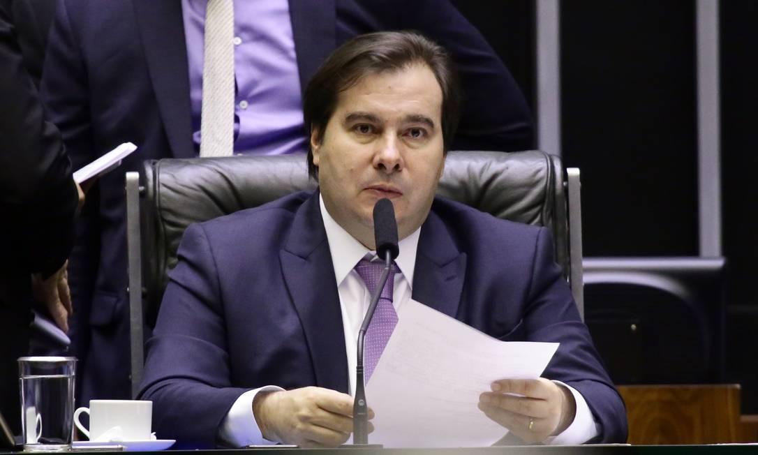 O presidente da Câmara, Rodrigo Maia, em sessão da Casa Foto: MJS / Michel Jesus/Câmara dos Deputados