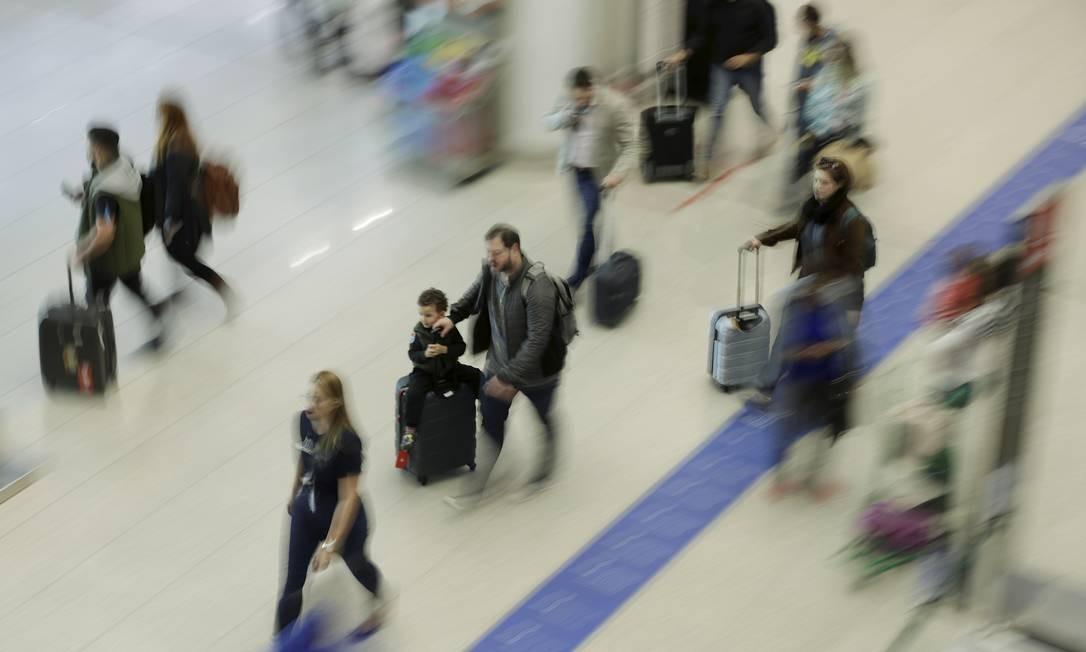 Estrangeiros que vêm a trabalho gastam mais do que turistas comuns, o que reduziu o gasto per capita Foto: Gabriel de Paiva / Agência O Globo