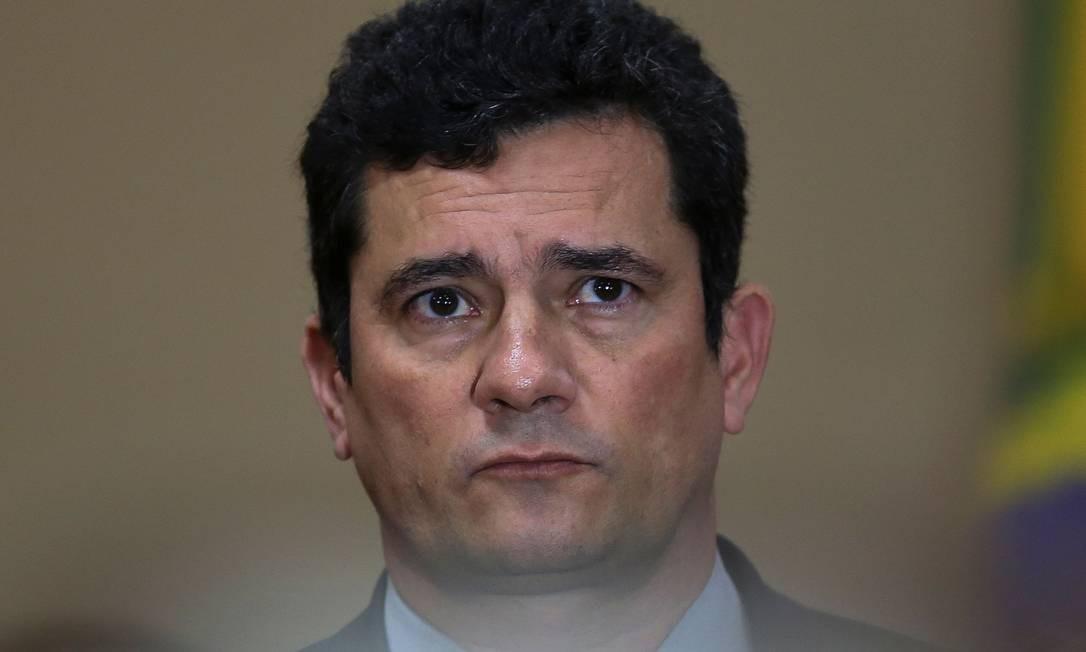 O ministro da Justiça, Sergio Moro Foto: MICHAEL DANTAS / AFP