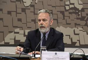 O embaixador Antonio de Aguiar Patriota durante sabatina na Comissão de Relações Exteriores do Senado Foto: Edilson Rodrigues/Agência Senado