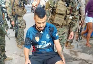 Paulo Roberto Silva Taveira, conhecido como 'Cara Preta' foi preso durante operação no Complexo da Maré Foto: Divulgação