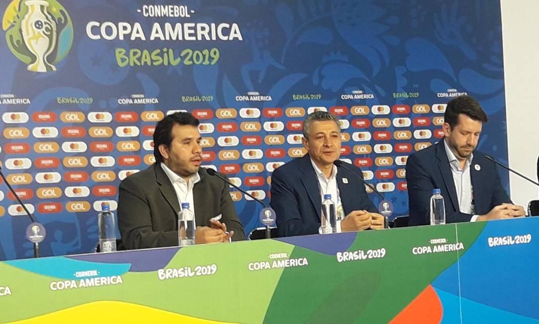 Entrevista coletiva no Morumbi sobre Copa América Foto: Igor Siqueira