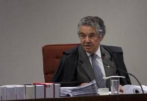 Na foto, o ministro Marco Aurelio Mello durante sessão do STF Foto: Michel Filho 27/06/2017 / Agência O Globo