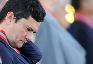 O ministro da Justiça Sergio Moro foi um dos alvos do amplo ataque hacker que atingiu o 'coração' da Lava-Jato Foto: Adriano Machado / Reuters