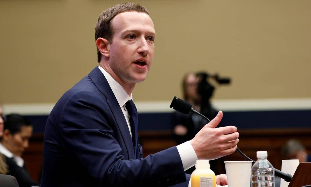 Zuckerberg testemunhando no Congresso dos EUA em abril: e-mais reveladores. Foto: Aaron Bernstein / REUTERS