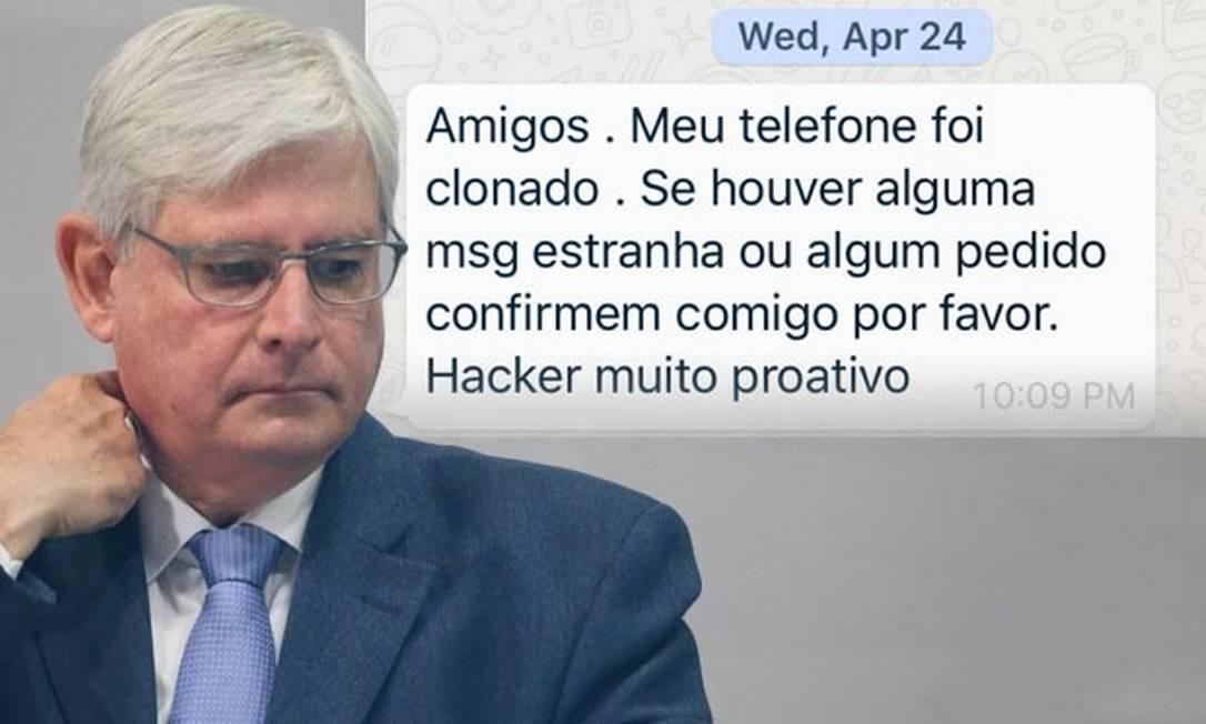 Celulares de procuradores que trabalharam com Rodrigo Janot também foram hackeados Foto: Reprod