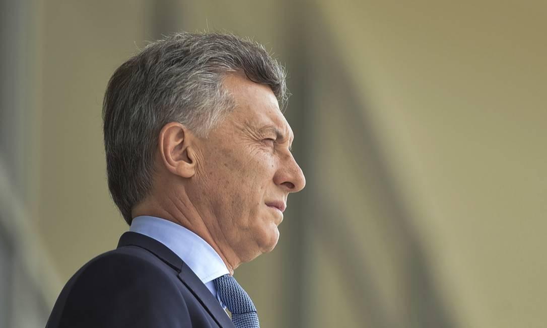 O presidente argentino Mauricio Macri, em visita ao Palácio do Planalto Foto: Ricardo Botelho Brazil Photo Press / LatinContent/Getty Images