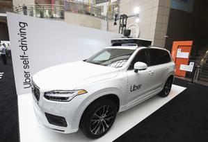 Desenvolvido em parceria entre Uber e Volvo, o XC90 SUV responde melhor aos comandos de computador Foto: Tasos Katopodis/Getty Images for Uber Elevate