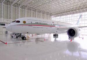 O Boeing 787 Dreamliner custou US$218 mil em 2012 Foto: Reprodução/Governo do México