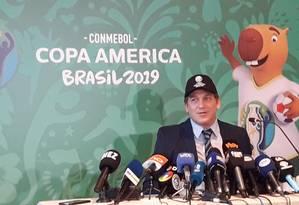 Alejandro Domínguez, presidente da Conmebol Foto: Igor Siqueira