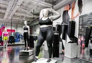 Repercussão do manequim plus size da Nike em Londres rompeu as fronteiras do Reino Unido Foto: Reprodução/Nike