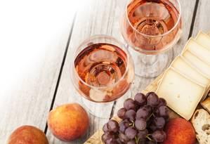 Taças de Mateus Rosé, o vinho feito com uvas Baga, Rufete, Tinta Barroca e Touriga Franca, algumas das castas do Douro. Foto: Shutterstock