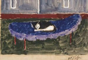 Obra de Alfredo Volpi da década de 1960, uma das peças exibidas na mostra