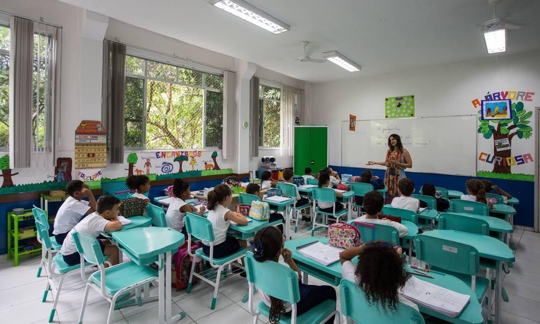 Alunos com TDAH deverão sentar nas primeiras fileiras da sala Foto: Emily Almeida / Agência O Globo