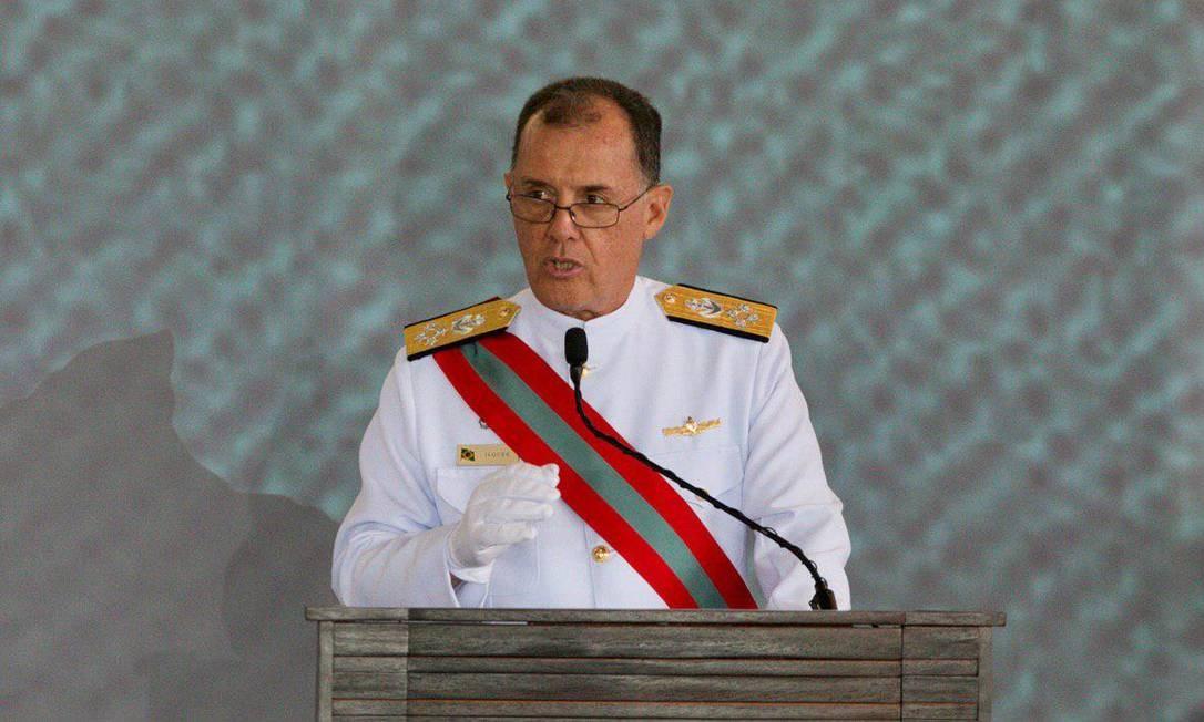 Almirante Ilques Barbosa Junior, comandante da Marinha Foto: Sergio Lima / Sergio Lima