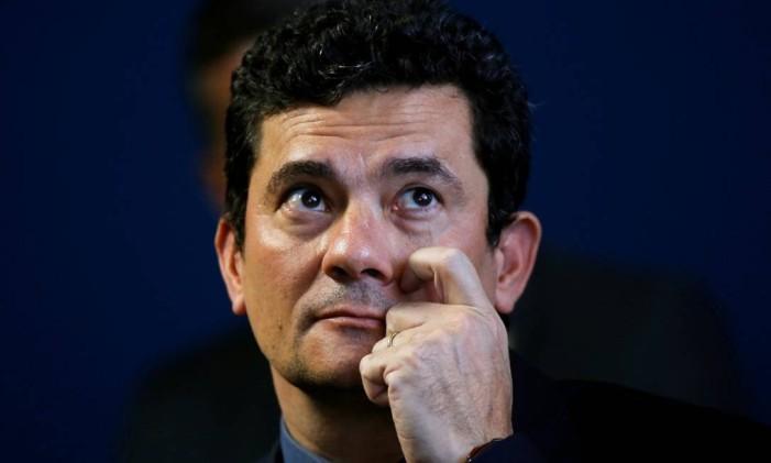 O ministro da Justiça, Sergio Moro, fala em sessão na Câmara Foto: ADRIANO MACHADO / REUTERS